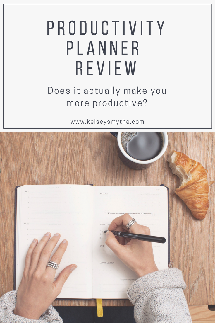 Productivity Planner Review - Does it actually make you more productive? - Ten tips to help you in your productivity | www.kelseysmythe.com